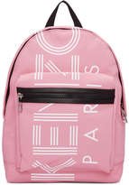 Kenzo Pink Small Logo Backpack
