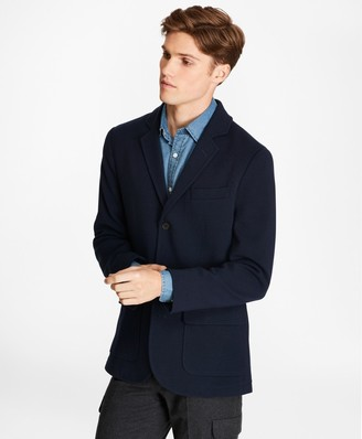 Brooks Brothers Merino Wool Three-Button Sweater Blazer