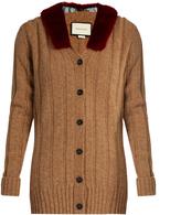 Gucci Wool and mink-fur cardigan