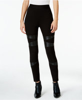 Vince Camuto TWO By Faux-Leather-Trim Leggings