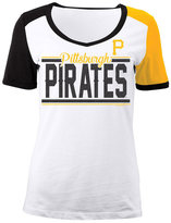 5th & Ocean Women's Pittsburgh Pirates CB Sleeve T-Shirt
