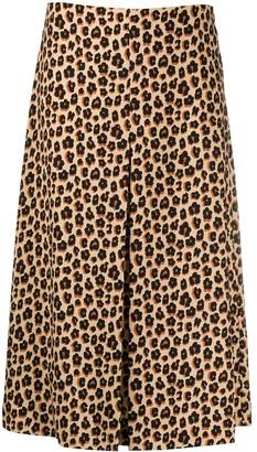 VIVETTA leopard print A-line skirt