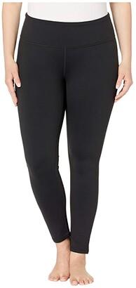 Prana Plus Size Transform Leggings (Black) Women's Casual Pants