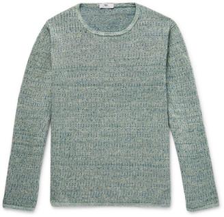 Inis Meáin Deora Aille Slim-Fit Melange Linen Sweater
