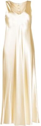 The Row Natasha metallic midi dress