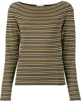 Sonia Rykiel boat neck striped blouse - women - Polyester/Viscose - S