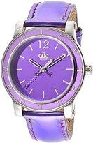 Juicy Couture Women's 1900840 HRH Purple Mirror-Metallic Leather Strap Watch