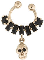 Givenchy Black Crystal And Skull Nose Ring