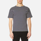 Armor Lux Men's Doelan Breton Stripe TShirt - Navy/Nature Cream