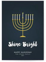 Minted Shine Bright Menorah Hanukkah Cards