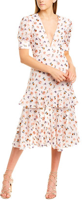 Talulah Floral Midi Dress
