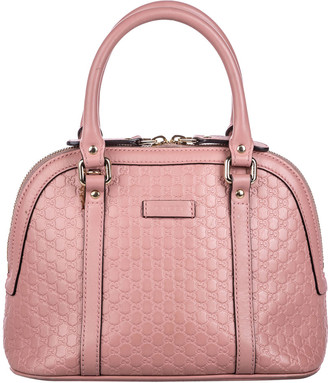 Gucci Pink/Light Pink Guccissima Leather Mini Dome Satchel Bag