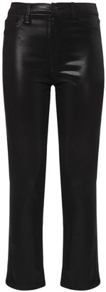 J Brand Alma High Waist Coated Straight Jeans