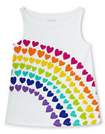 Lands' End Girls Plus A-line Graphic Knit Tank-Rainbow
