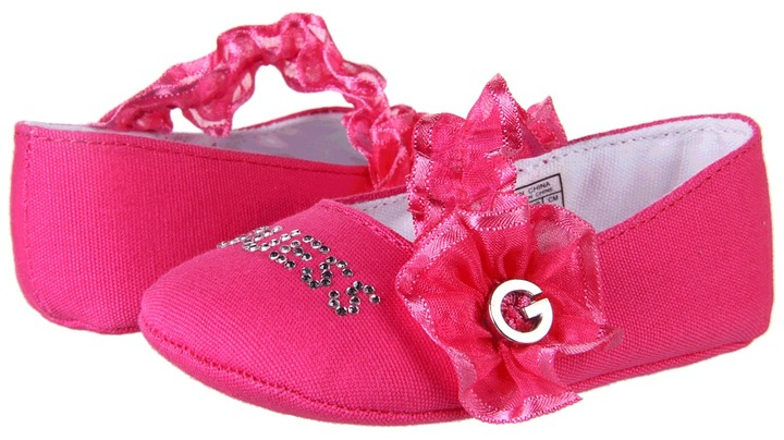 GUESS Kids' - Frill (Infant/Toddler) (Pink Crimson Canvas) - Footwear