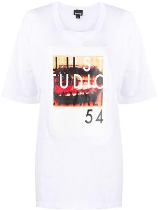 Just Cavalli Studio 54-print cotton T-shirt