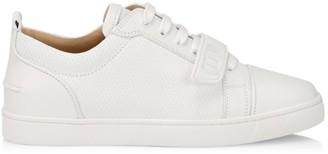 Christian Louboutin Louis Junior Textured Leather Low-Top Sneakers