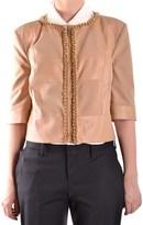 Elisabetta Franchi Women's Beige Polyamide Jacket.