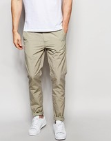 Asos Skinny Chinos In Stone Nylon