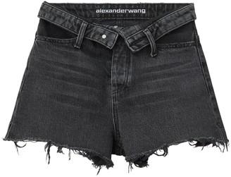 Alexander Wang Grey Aged Bite Flip Shorts