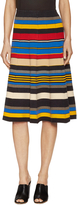 Tracy Reese Women's Gored Cotton Striped A Line Skirt
