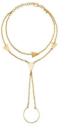 Moon & Meadow 14K Yellow Gold Triangle Hand Chain Bracelet - 100% Exclusive