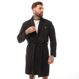 Lyle And Scott Vintage Mens Matthew Fleece Dressing Gown Black