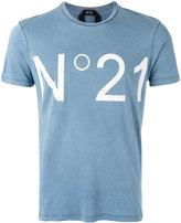No.21 'No.21' print T-shirt - men - Cotton - L