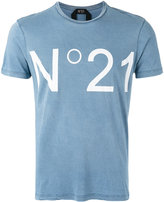 No.21 'No.21' print T-shirt - men - Cotton - S