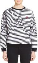 McQ by Alexander McQueen Women's 'Broken Stripes' Sweatshirt