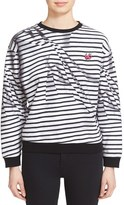 McQ Women's 'Broken Stripes' Sweatshirt