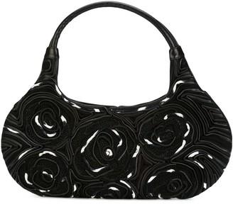 Giorgio Armani Pre-Owned contrast trim floral handbag