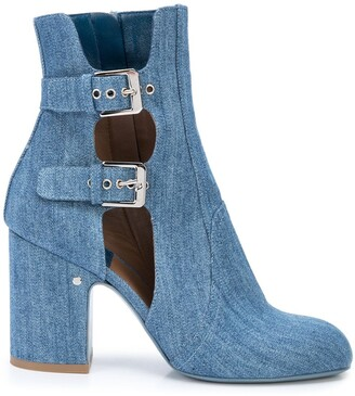 Laurence Dacade Cut-Out Buckle Boots