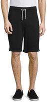 Rag & Bone Standard Issue Drawstring Sweat Shorts, Black