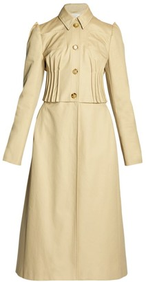 Nina Ricci Pleated Cotton Overcoat