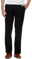 Maine New England Big And Tall Black Buttoned Moleskin Trousers