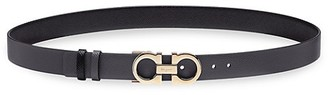 Salvatore Ferragamo Donna Gancini Buckle Reversible Two-Tone Leather Belt