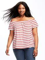 Old Navy Plus-Size Off-the-Shoulder Swing Top