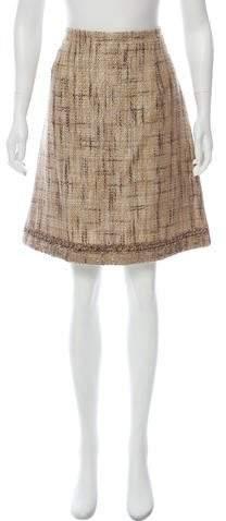 Andrew Gn Metallic Tweed Skirt