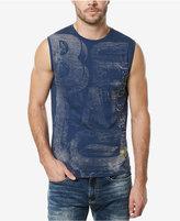 Buffalo David Bitton Men's Crew-Neck Sleeveless T-Shirt