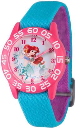 Disney Collection Ariel The Little Mermaid Girls Blue Strap Watch-Wds000171