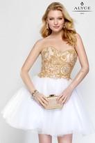 Alyce Paris - 3690 Short Dress In White Gold