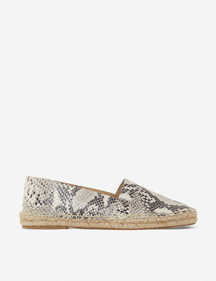 Bertie Greet snakeskin-print leather espadrilles