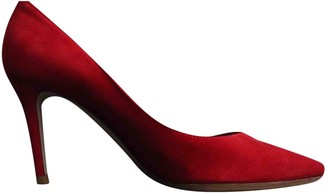Gianvito Rossi Gianvito Red Suede Heels