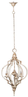 A&B Home Donalt Crowned 3-Light Iron Chandelier