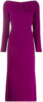Roland Mouret Boat Neck Fitted Dress