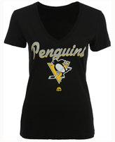 Majestic Women's Pittsburgh Penguins Match Penalty Glitter T-Shirt