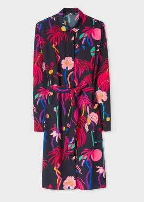 Paul Smith Boutique 3 Urban Jungle print shirtdress - navy blue | Red/pink | uk12 | viscose - Navy blue