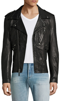 BLK DNM Leather Notch Lapel Jacket