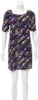 Maje Abstract Print Silk Dress